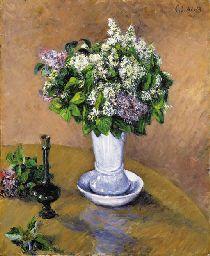 Gustave Caillebotte (1848-1894)   Nature morte au vase de lilas
