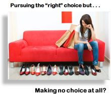 The Paradox of Choice - In the pursuit of making the right choice are you making no choice at all?  Monday Morning Motivational Moment on the Jay Michaels Show, WFAS 103.9 FM New York