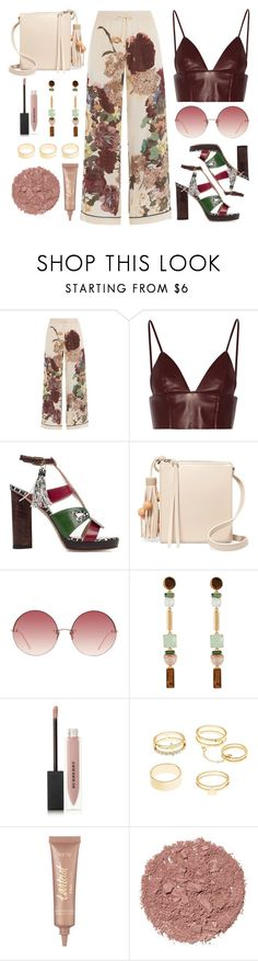 """""""Valentino Wide Leg Pants"""" by wolfiexo ❤ liked on Polyvore featuring Valentino, T By Alexander Wang, Susana Traça, Elizabeth and James, Linda Farrow, Henri Bendel, Burberry, Charlotte Russe, tarte and Illamasqua"""