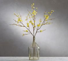 Faux Forsythia Branch #potterybarn