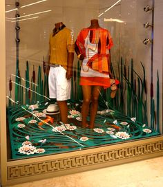 Lilly Lake - Hermès Window Display by Kliment v Klimentov, via Behance