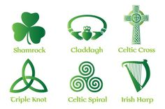 Celtic and Irish Vector Symbols and Illustration