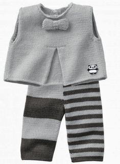 Knitting Ideas for Babies – Babykleidung Knitting For Kids, Baby Knitting Patterns, Baby Patterns, Knitting Ideas, Crochet Patterns, Baby Vest, Baby Cardigan, Knitted Baby Clothes, Knitted Hats