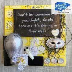 Wonderful World of Crafting : Positive Quote for Mixed Media Supplies