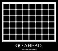 Go ahead...  Count the black dots.