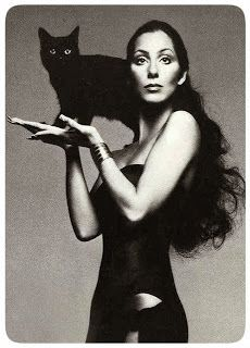 """It's not like dressing a regular person — it's like dressing a crazy goddess, sometimes she's an Egyptian goddess and sometimes she's a biker chic goddess."""" Bob Mackie Quote about Cher"""
