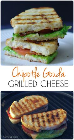 Chipotle Gouda Grilled Cheese | Home & Plate