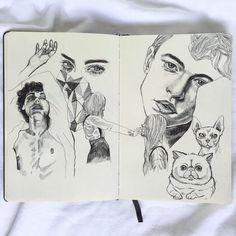 Image about beautiful in Drawings by °Ane tiss° Art Inspo, Kunst Inspo, Inspiration Art, Sketchbook Inspiration, Art Sketches, Art Drawings, Art Amour, Art Du Croquis, Arte Sketchbook