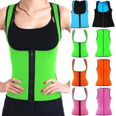 0505b831f5f3e Neoprene Shapers Waist Trainer Corsets Hot Body Shaper Weight Lossing Tank  Tops Sweat Slimmer Vest Tummy