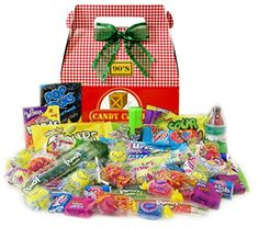 1990's Holiday Retro Candy Gift Box - http://www.specialdaysgift.com/1990s-holiday-retro-candy-gift-box/