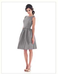 #Grey Simple Bateau Neck Short Bridesmaid Dress (G133)  Grey dress #2dayslook #fashion #nice #Greydress #dress   www.2dayslook.com
