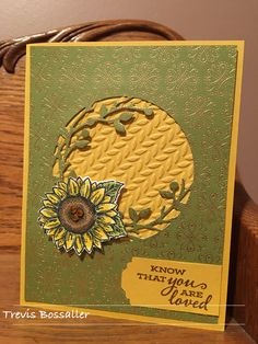 Sunflower Cards, Autumn Cards, Floral Card, Embossed Cards, Stamping Up, Card Designs, Daisies, Stampin Up Cards, Branches