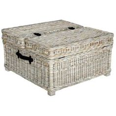 """Blending stately style and casual elegance, this chic design brings eye-catching allure to your living room, den, or master suite. Product: Coffee table    Construction Material: Wicker    Color: White-wash   Features: Will enhance any décor Dimensions: 18"""" H x 31"""" W x 31"""" D Shipping: This item ships small parcelExpected Arrival Date: Between 04/15/2013 and 04/23/2013Return Policy: This item is final sale and cannot be returned"""