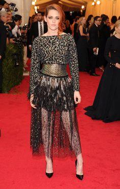 2014 #MetGala Fashion: Kristen Stewart in Chanel