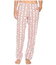 Make bedtime stylish in this cute and comfortable Jane Bleecker sleep pant. ; Relaxed, mid-rise pajama pant in a cotton jersey. ; Adorable flannel print is featured all throughout. ; Faux button fly. ; Elastic waist. ; Pull-on. ; 55% cotton, 45% rayon. ; Machine wash cold, tumble dry low. ; Imported. Measurements: ; Inseam: 31 in ; Product measurements were taken using size SM. Please note that measurements may vary by size.