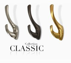 Our classic double hook revives the old world marriage of beauty and utility with a modern flare. Quality, solid, easy to install mounting system. Available in our current 5 classic finishes. For a single hook option take a look at our Pomelli Mini Classic Collection. Pull Handles, Pomellato, Classic Collection, Drawer Pulls, Cabinet Hardware, Knob, Old World, Hooks, Flare