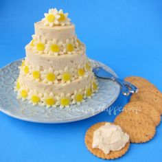 Hungry Happenings: Serve a wedding cake cheese ball at your bridal shower or wedding.