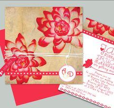 lotus flower - Lilykiss wedding invitation