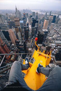 City of Dreams - Pinned by Mak Khalaf Climbed 1100 feet to the very top of this crane for sunrise towering over New York City! Urban Exploration skysunriseriverbuildingsarchitectureroofcityscapenynew yorkfallclimbtopskylinecentral parknew york citynychighcranemanhattanheightskyscraperschillurbexrooftopexploreurban explorationrooftoppinglook downon the roofsbrxson by brxson