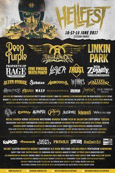 L'affiche et les premiers groupes du Hellfest 2017 !!