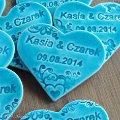 Podziękowania weselne ślub pracownia ako wesele ceramika serca