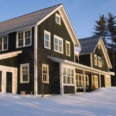 dark siding white trim
