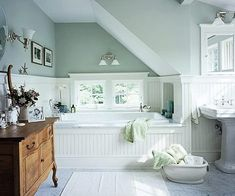 Bathroom in the attic. Apple Pie and Shabby Style: The Attic inspirations (second part)