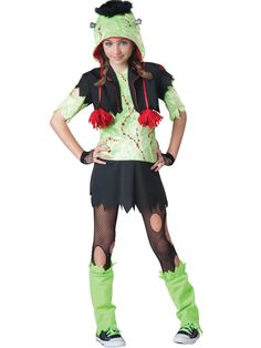Monster Gurl Frankenstein Costume Tween