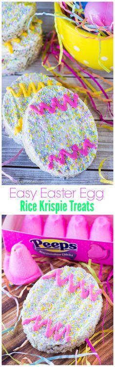 Easy Easter Egg Rice Krispie Treats makes a perfect Easter dessert | deliciouslysprinkled.com