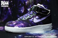 Custom Nike Air Force Ones | nike-air-force-1-mid-galaxy-force-customs-by-pd44-1-570x379