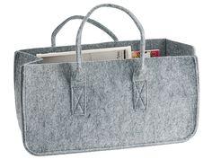 Magazine holder Mellow felted grey 52 x 27,5 x 26cm