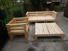 how to make outdoor sectional out of pallets - Google Search