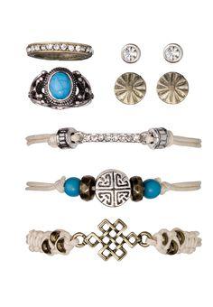 Turquoise Earring, ring and bracelet set