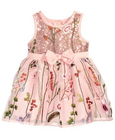25f12d942228d Nanette Lepore Embroidered Mesh Dress, Baby Girls & Reviews - Dresses -  Kids - Macy's