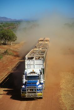 Outback Road Train. These engines are around 19 litre capacity, the Rolls Royce merlin Spitfire airplane engine was 27 litres!!