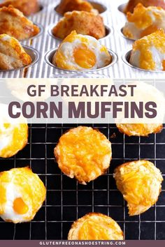 These savory gluten free breakfast corn muffins can be made with or without a whole egg cracked right on top before they go into the oven. The perfect make-ahead breakfast for busy mornings! Gluten Free Recipes For Breakfast, Gluten Free Muffins, Gluten Free Breakfasts, Oreo, Dutch Oven Recipes, Freezer Recipes, Freezer Cooking, Freezer Meals, Sample Recipe