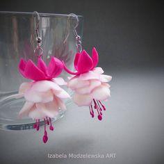 Flower Earrings, Drop Earrings, Facebook Sign Up, Wire Wrapping, Pink Flowers, Polymer Clay, Handmade Jewelry, Art, Kunst