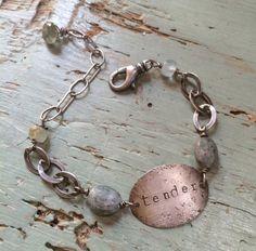 Tender Blue Moon Bracelet by ninabagley on Etsy