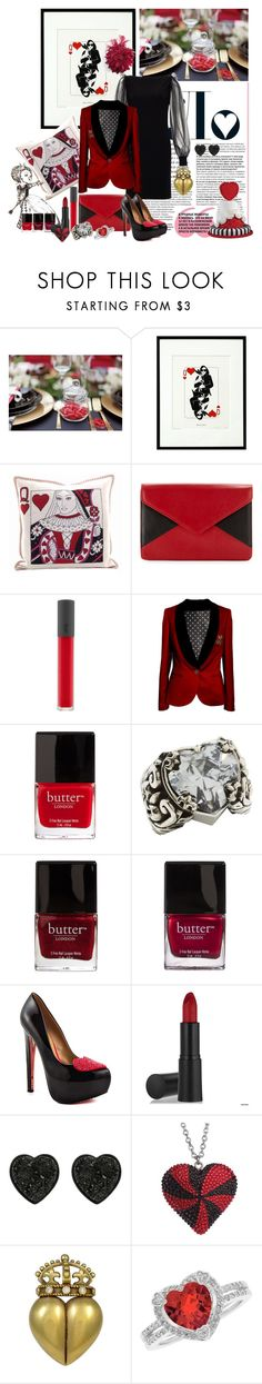 """Queen of Heart<3"" by natsuko333 ❤ liked on Polyvore featuring Jennifer Lopez, BINTH, Jan Constantine, Lenox, Azzaro, Burton, Bite, Butter London, King Baby Studio and TaylorSays"