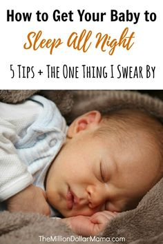 How to get your baby to sleep all night + Baby Merlin Magic Sleepsuit Review