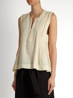 Click here to buy Isabel Marant Étoile Adonis embellished cotton-blend top at MATCHESFASHION.COM