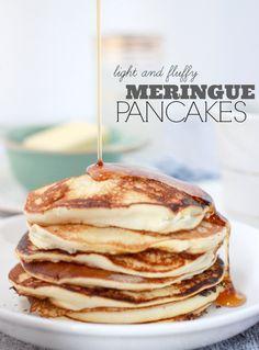 Fluffy Meringue Pancakes: Pancake Recipe Without Baking Powder- Baker Bettie