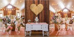 Pink and gold glitter wedding decor |  Heritage House Dripping Springs - The Bird & The Bear Photography & Films