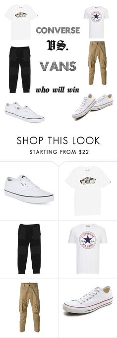 """""""Vans x Converse"""" by sirrekage ❤ liked on Polyvore featuring Vans, Snow Peak, Converse, Dsquared2, men's fashion and menswear"""