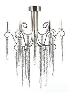 Bathroom Chandeliers Bhs smoke everly chandelier necklace chandelier smoke chrome steel