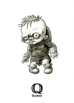 Tiny Creatures Alphabet on Behance Zombie Drawings, Alien Drawings, Dark Drawings, Halloween Drawings, Cartoon Drawings, Horror Cartoon, Horror Art, Horror Movie Characters, Horror Movies
