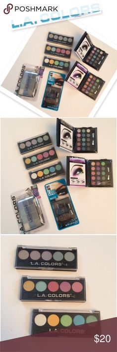 L.A. Colors Eye Bundle L.A. Colors Eye Bundle. Includes 7 products ! Get the look 6 color eye pallet, 2 Little black books of eye shadows, 3 color palettes with 5 shades and a 12 shade shadow palette. New ! Final Price L.A. Colors Makeup