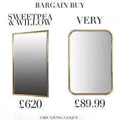 Bargain Swap: Gold Bamboo Mirror – Chic Living Clique Bamboo Mirror, Chic, Gold, Stuff To Buy, Home Decor, Shabby Chic, Decoration Home, Room Decor, Elegant