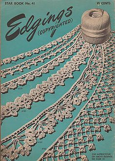 Vintage Crochet Edging Patterns American Thread Company 1946 | eBay
