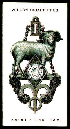Cigarette Card - Aries, The Ram by cigcardpix, via Flickr
